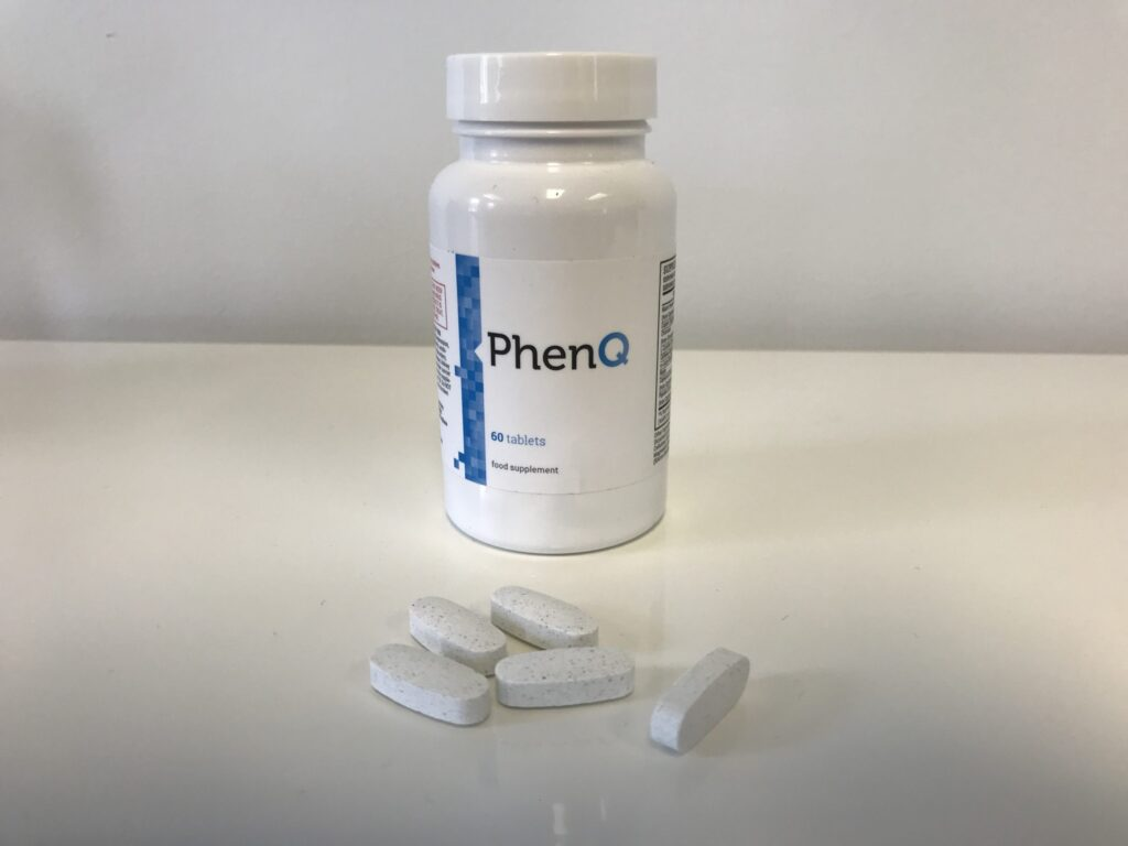 bottle and phenq pills out